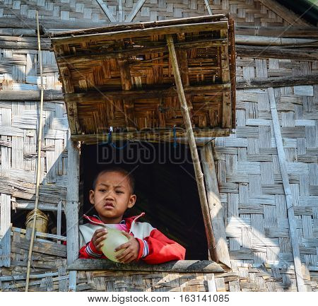 Portrait Of Burmese Children In Yangon