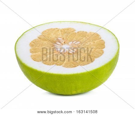 Pomelo Citrus Isolated On White Background