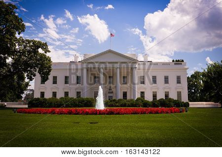 The White House residence of the President of the United States of America.