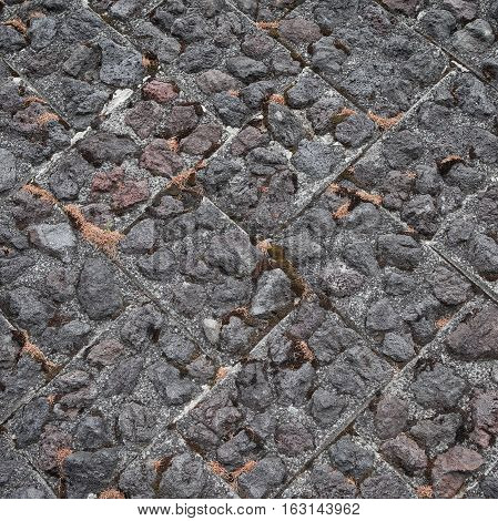 Stone wall design background and texture Japanese Style