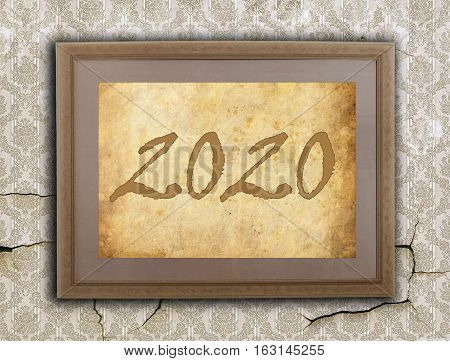 Old Frame With Brown Paper - 2020