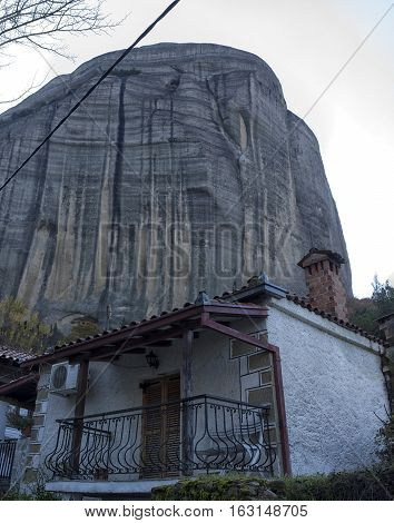 Orthodox monasteries are located on the tops of grandiose cliffs.