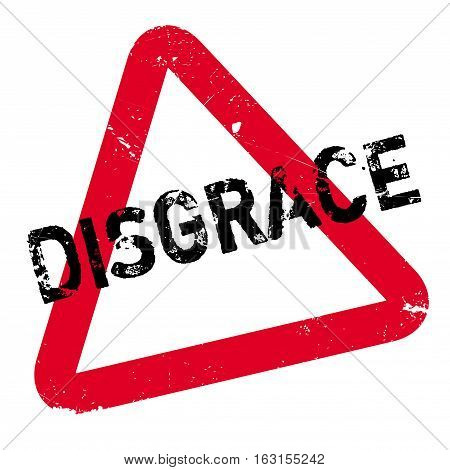 Disgrace rubber stamp. Grunge design with dust scratches. Effects can be easily removed for a clean, crisp look. Color is easily changed.