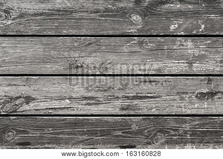 Old wood, texture and background. Gray background.