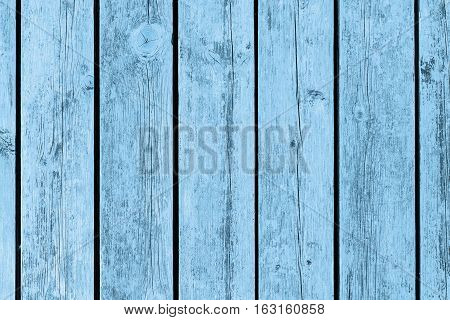 Old wood, texture and background. Blue background.