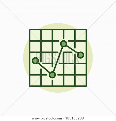 Chart green icon. Vector colorful business graph or chart symbol or logo element