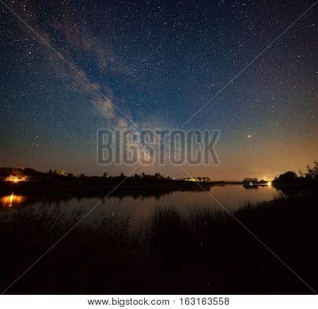 Night Landscape With River