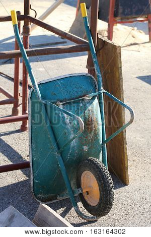 Construction Site With A Wheelbarrow