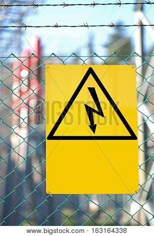 Symbol Of A Lightning Bolt For Electrocution Danger In Power Pla