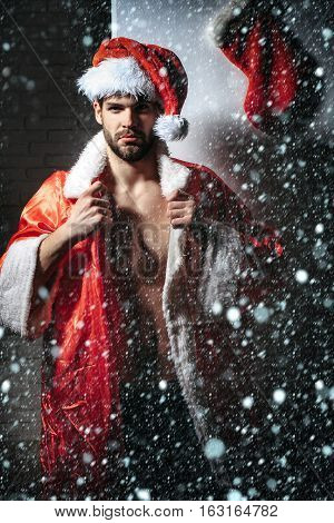 Handsome Sexy Santa Man
