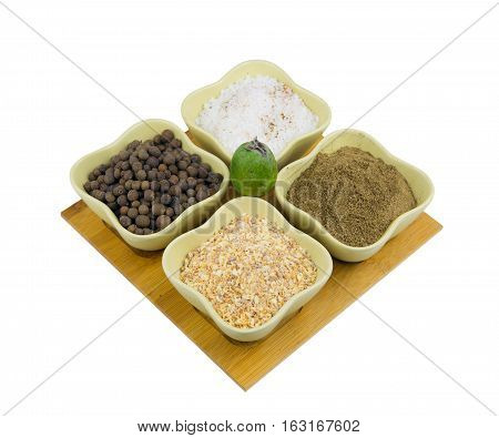 set of spices for food from Central Asian dishes is ready to be used