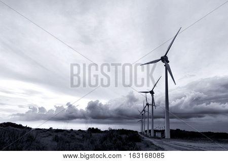 windmills in Bozcaada (Tenedos) island, Canakkale, Turkey
