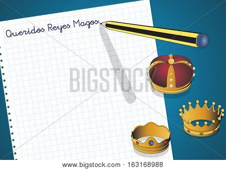Letter To Three Kings Of Orient Queridos Reyes Magos