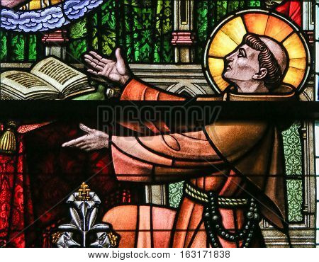 Stained Glass - Saint Anthony Of Padua