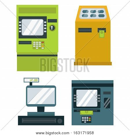 Finance and money icon set payments symbols. Purchase series vector icons credit banking. Paying investment computer service debit transaction check.