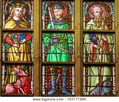 Stained Glass - Catholic Saints