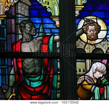 Stained Glass - Beheading Of John The Baptist