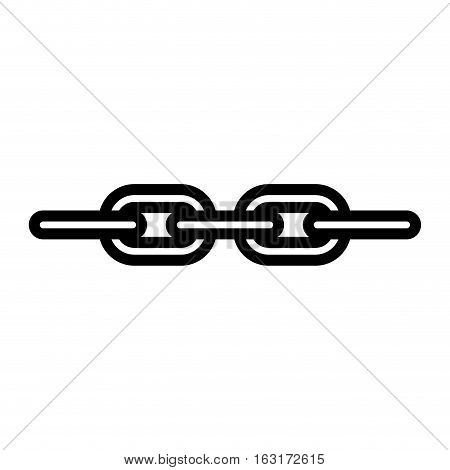 Link icon. Web connection internet chain and hyperlink theme. Isolated design. Vector illustration