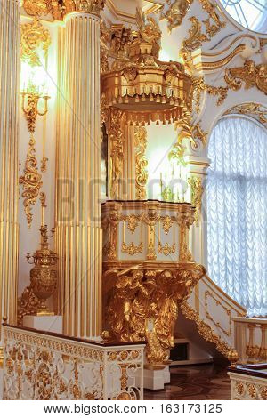 St. Petersburg, Russia - 1 December, Gold Hermitage Department, 1 December, 2016. Visiting of exhibitions and expositions State Hermitage.