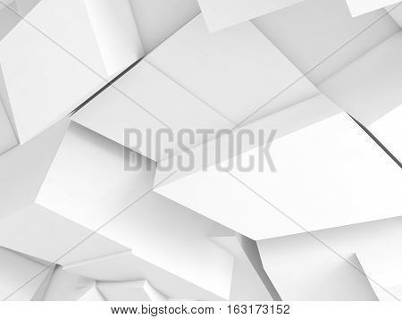 Abstract Digital Background, White 3D