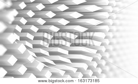 Abstract 3D White Background Pattern