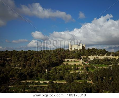 View of the Verdala Palace Buskett Garden Malta