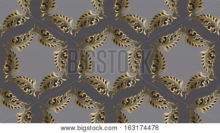 Art Nouveau style vector round pattern illustration