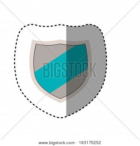 Shield icon. Security system warning and protection theme. Isolated design. Vector illustration