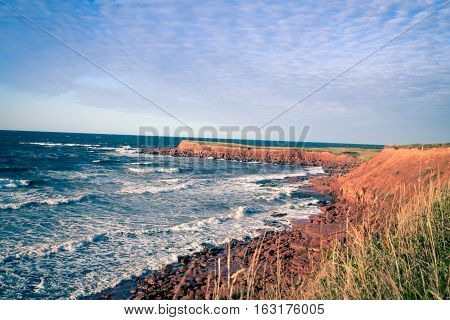 Atlantic ocean and north coast of prince edward island