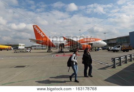 Easyjet Airbus A319 Parked In London Luton