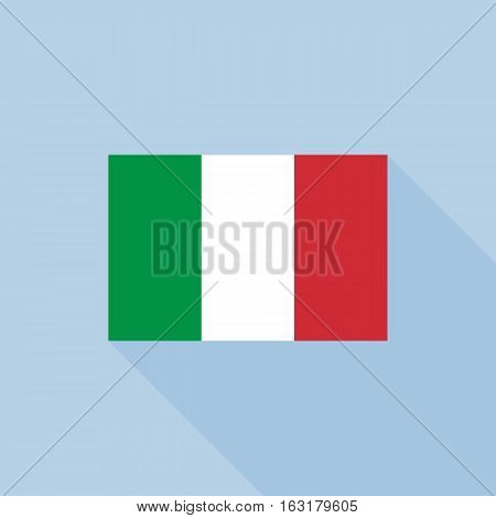 Italy flag , flat design vector with official proportion