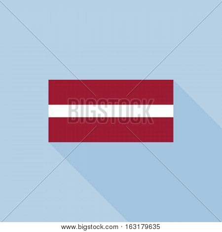 Latvian flag , flat design vector with official proportion