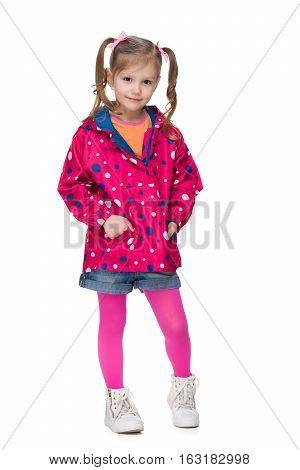 Fashion Little Girl In A Jacket