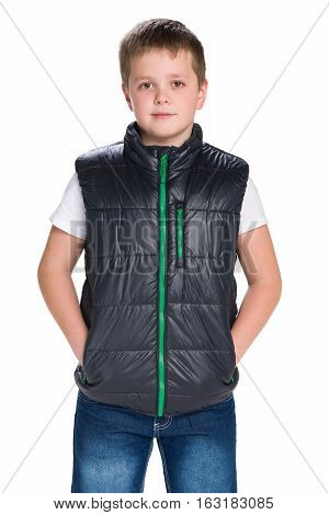 Handsome Young Boy In A Jacket