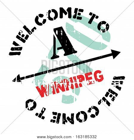 Winnipeg stamp. Grunge design with dust scratches. Effects can be easily removed for a clean, crisp look. Color is easily changed.
