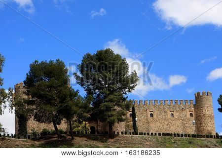 Toledo walls, view from the old bridge, Spain