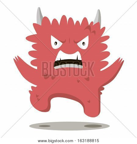 Angry swearing monsters in a flat style. Colorful angry characters