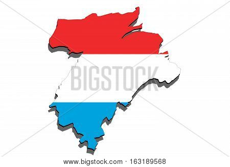 Close Up On Lithuania Map On White Background,