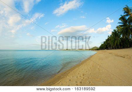Sand Beach at Maenam Bay, Ko Samui, Thailand