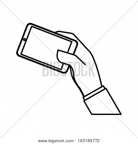 Mobile smartphone technology icon vector illustration graphic design