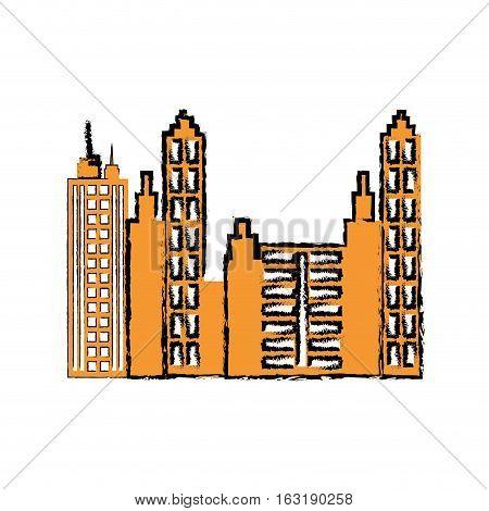 City urban view icon vector illustration graphic design