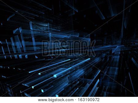 abstract fractal background a computer-generated 3D illustration