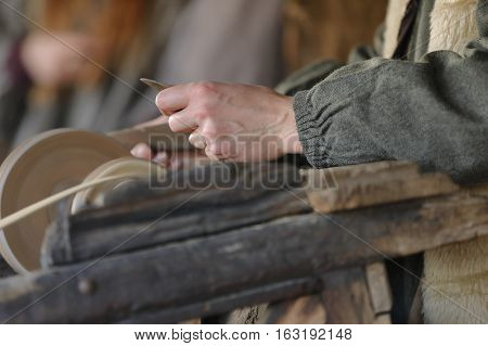 knife grinder sharpens the blade of an agricultural implement