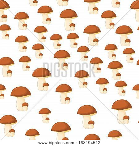 Pattern Of Ceps On A White Background