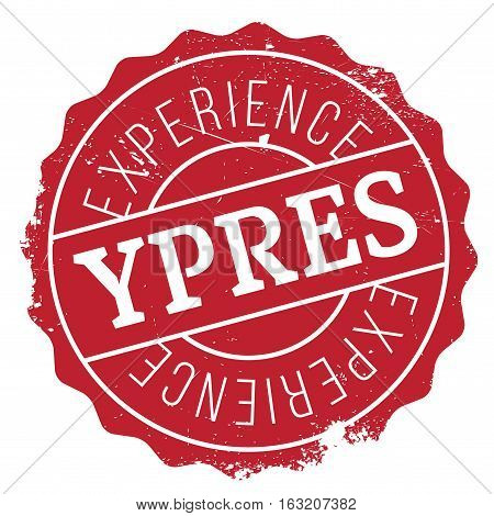 Ypres stamp. Grunge design with dust scratches. Effects can be easily removed for a clean, crisp look. Color is easily changed. rubber grunge