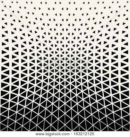 Abstract geometric triangle design halftone pattern background