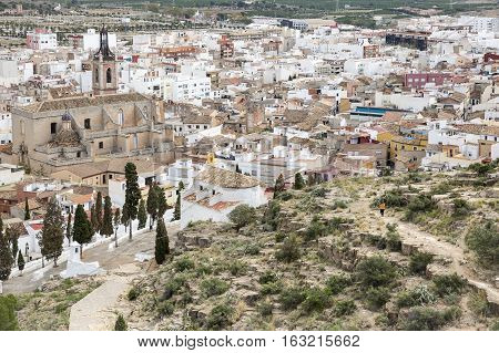 a view from the Castle over Sagunto city, province of Valencia, Spain