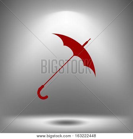 Umbrella Symbol Vector Icon