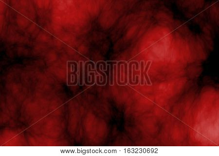 Image of the dark red glowing cloud