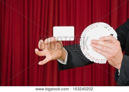 Presenting A Blank Card
